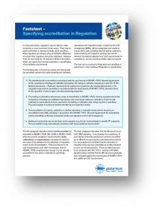 Specifying accreditation in Regulation – the ILAC MRA