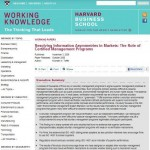 Resolving Information Asymmetrics in Markets: The Role of Certified Management Programs
