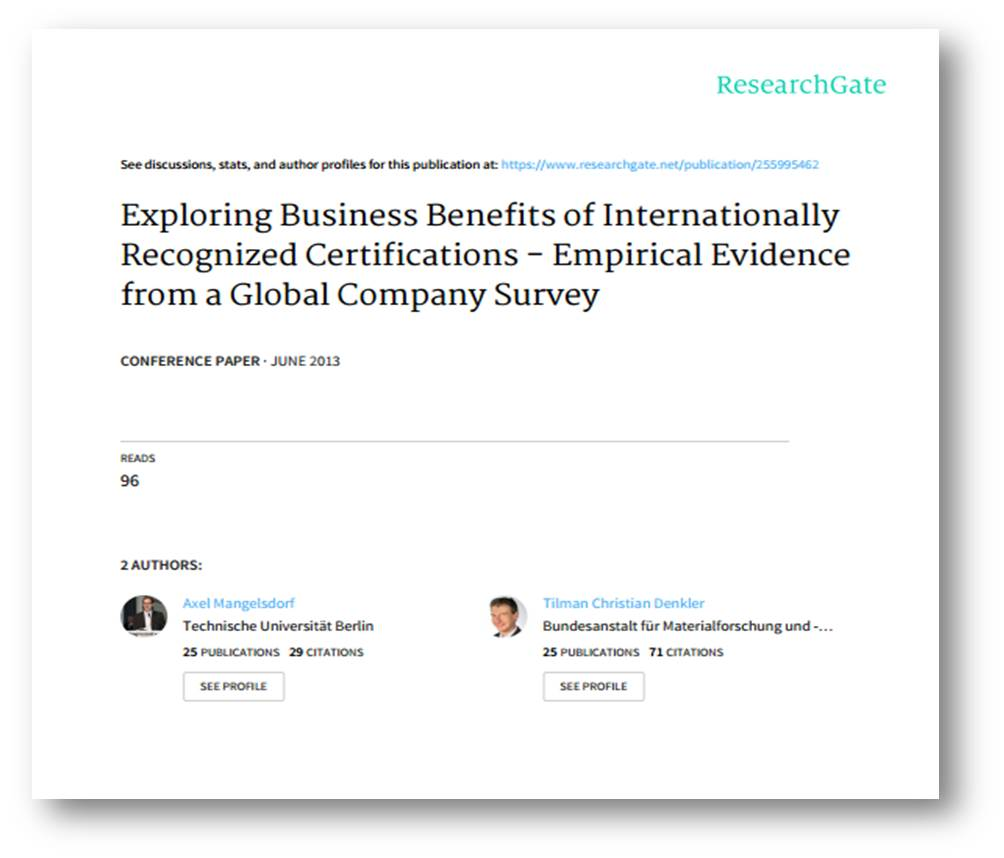 Exploring Business Benefits of Internationally Recognized Certifications