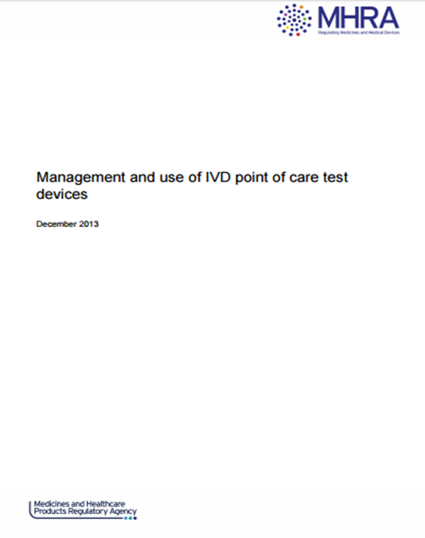 MHRA recommends use of accredited point of care testing