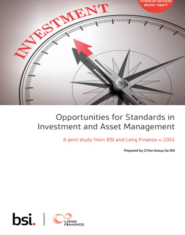 Opportunities for Standards in Investment & Asset Management (October 2014)